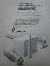 1981-1982 PUB FAIRCHILD SPACE ELECTRONICS AIRCRAFT WEAPON SYSTEM  BLACK BOX AD