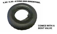 4.00 - 8 (4.80 / 4.00 - 8) WHEELBARROW TYRE AND INNER TUBE INNERTUBE BENT VALVE