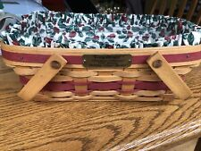 Longaberger Vintage Christmas Collection 1996 Edition Holiday Cheer Basket