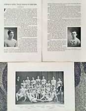 ANTIQUE COLLEGE SPORTS COLLECTIBLE RARE 1901 MICHIGAN TRACK & FIELD TEAM PRINT
