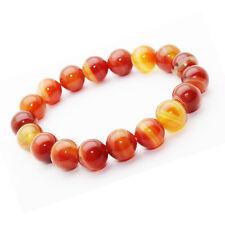 Bracelet Agate Rouge pierre semi-précieuse perles 10 mm. Pierre apaisante.
