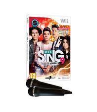 """Juego Nintendo Wii """"Lets Sing9 V.esp"""" 2 micros"""