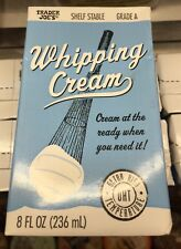 Trader Joe's Whipping Cream, 8.0 fl oz.(236 mL) NEW! Exclusive! Grade A!