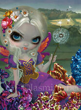 Jasmine Becket-Griffith art print dandelion fairy faery SIGNED Three Wishes