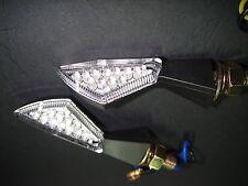 ► 2x LED Miniblinker Matrix Noir triumph Legend tt, tiger EFI, thunderbird, t140e