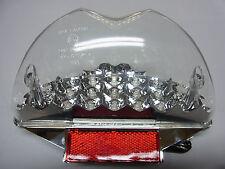 FANALE RETROVISORE 15 LED 's vetro chiaro con e-numero per AEROX NITRO (s26)