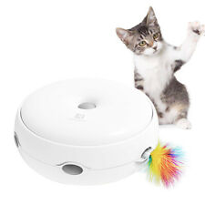 Electric Cat Toy Pet Toys Intelligence Crazy Play Tray Feathers Cat Toy without