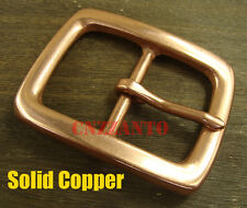 Solid Copper Belt Buckle Vintage Classical Tongue Pin Hippie for 38mm belt Z238