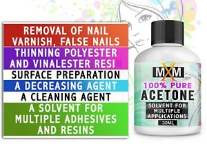 100% Pure Acetone Superior Quality Nail Polish Remover UV/LED GEL FAST DELIVERY