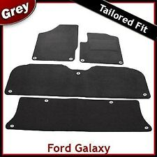 Ford Galaxy 1999 2000...2005 2006 Tailored Carpet Car Mats GREY 11 Clip (Oval)