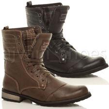 Scarpe da uomo stivali militari in pelle sintetica