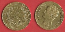 20 F OR NAPOLEON CONSUL L'AN XII  RARE COTE 2800 € COLLECTION /INVESTISSEMENT
