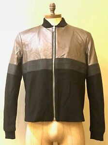"""MENS DIESEL JARGOAN GIACCA LEATHER CONTRAST JACKET 46"""" CHEST BNWT"""