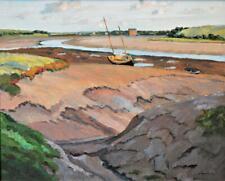 LEVI LUMB ~ ORIGINAL IMPRESSIONIST OIL Wyre Estuary Fylde Lancashire ~ date 1939