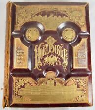 Bower & Fegley Surname Antique Large Holy Bible 1886 Boyertown Pennsylvania (O)