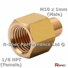 Prosport Male Female Oil Pressure Gauge Sensor Sender Adaptor 1/8 NPT M10 x 1mm