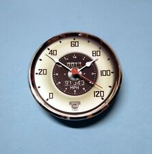 MEGA-QUARTZ 100mm BEZEL Quartz Clock  insert movement White and Black dial