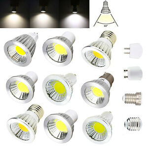 Dimmable GU10 GU5.3 E27 E14 LED COB Spotlight 6W 9W 12W 220V 12V Bright Lamps RC