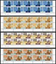 Virgin Islands SG241a/50a Set of Perf 13.5 Plate Blocks of TEN U/M