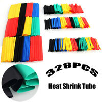 328Pcs 8 Size Assortment Heat Shrink Tubing 2:1 Sleeving Wrap Wire Cable Kit