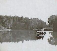 Fish Pond, Palace/Château of Fontainebleau, France, Magic Lantern Glass Slide