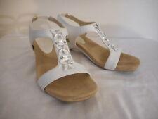 Anne Klein Aktandu Silvery white Strappy Heel Size 6.5 Dressy shoe