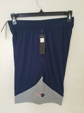 New Men's Majestic Navy New England Patriots Cool Base -  Shorts NWT