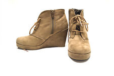Merona Ankle Boots Microsuede Wedge Fashion Bootie Size 6