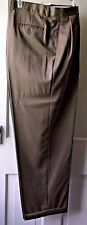 JOSEPHS FEIS MENS PANT Sz [ 42 X 30 ] FRONT PLEATED,CUFFED, GREEN