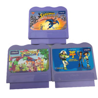 Lot of 3 Vtech VSmile Games Toy Story 2, Superman, and Adventure Park Cartridges