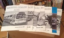 MOTOR COACH AGE 1981 All 7 Issues RARE BUS HISTORY US Travel FREE US SHIPPING
