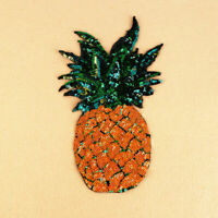 1×Sequins Pineapple Embroidered Iron On /Sew On Patch Badge Applique# new. W4E5
