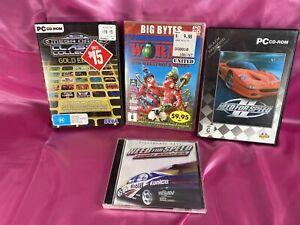 Bulk Lot Of Vintage Pc Games - Need For Speed, Sega Mega Drive, Worms