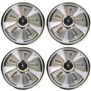 66 Ford Mustang Wheel Cover 4 PC SET - 14 inch, 4 Center Caps INCLUDED