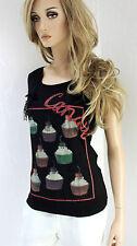 RINASCIMENTO Damen Shirt Viskosemischung M L 38 40 schwarz bunt Top