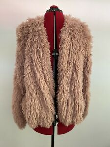 NWT - Miss Shop Pink Fluffy Jacket Size 12