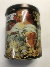 "Lefevre Utile Biscuits Shortbread 6"" Decorative Advertising Metal Tin 1998"