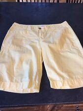 Women's Old Navy Yellow Bermuda Shorts Size 10