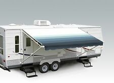 "19' Pacific Blue w/Wht W/G, RV Patio Awning Repl. fabric canopy (Fabric:18'2"")"