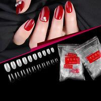 500pcs Short Ellipse Full Cover Fake False Nail Tips Acrylic Gel Manicure tx