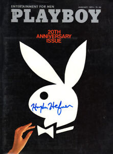 HUGH HEFNER SIGNED AUTOGRAPHED FULL JANUARY 1974 PLAYBOY MAGAZINE BECKETT BAS