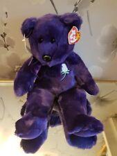 "Ty Beanie Buddies 14"" Princess Diana Retired Rare Purple Plush Tags and Tush Tag"