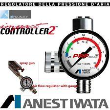 Anest Iwata Impact Controller 2 Manometro Regolatore Aria Per Pistola A Spruzzo