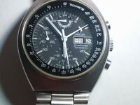 Omega Seamaster automatic chronograph day date watch Stainless steel pre-owned,