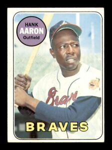 1969 Topps Set Break # 100 Hank Aaron VG-EX *OBGcards*