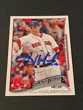 Will Middlebrooks Signed 2014 Topps Card Auto Boston Red Sox Autograph COA