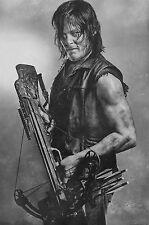 A3 Walking Dead Poster – Daryl Dixon Black & White (Picture Zombie Rick Negan)