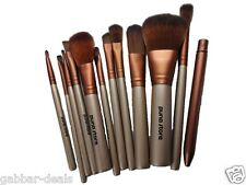Makeup Brush Set - 12 Piece Set with Storage Box (P)