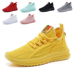 WOMENS LADIES RUNNING TRAINERS SPORTS SNEAKERS KNIT LACE UP WOMEN SHOES SIZE UK