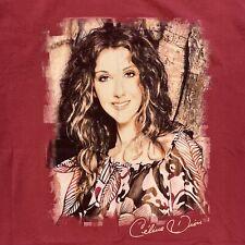Vintage Celine Dion World Tour Let's Talk About Love Burgundy XL T-Shirt